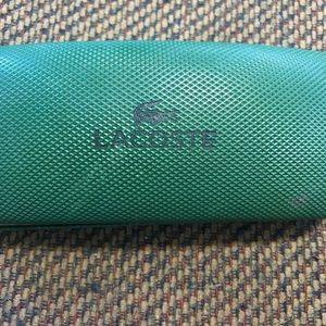 LaCoste Green sunglasses case